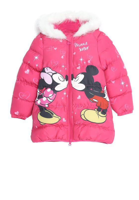 Różowa Kurtka Happy Mouse