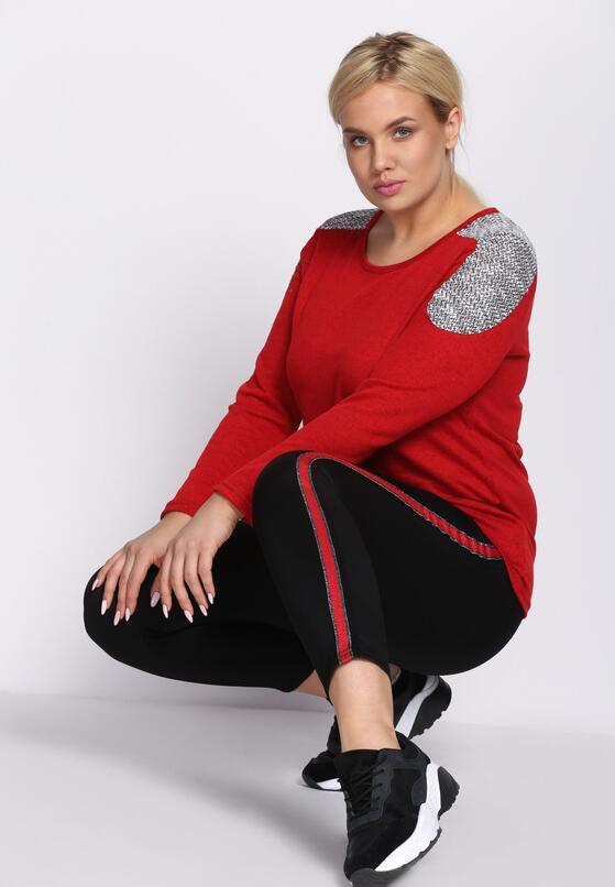 Czarno-Czerwone Spodnie Dresowe Patience