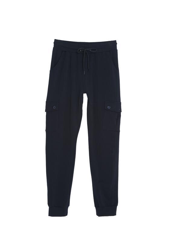 Granatowe Spodnie Work It Now