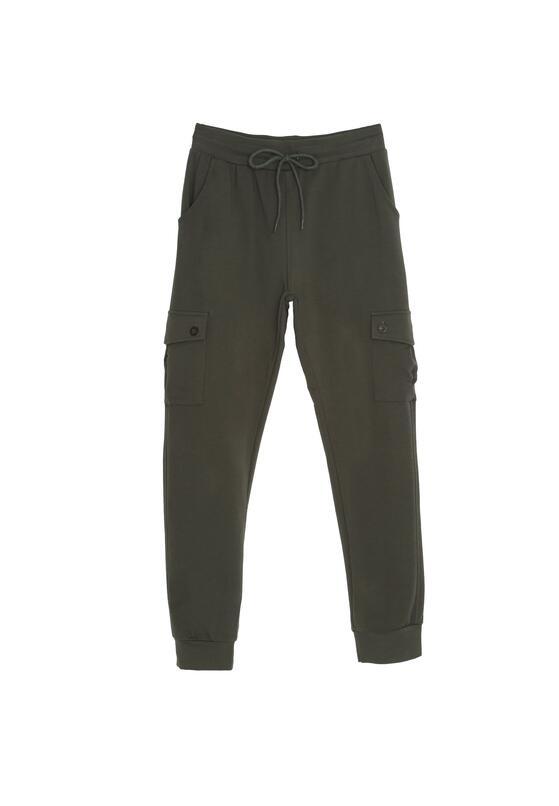 Ciemnozielone Spodnie Work It Now