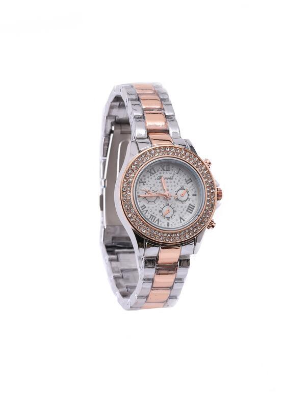 Srebrno-Różowy Zegarek Tinsel