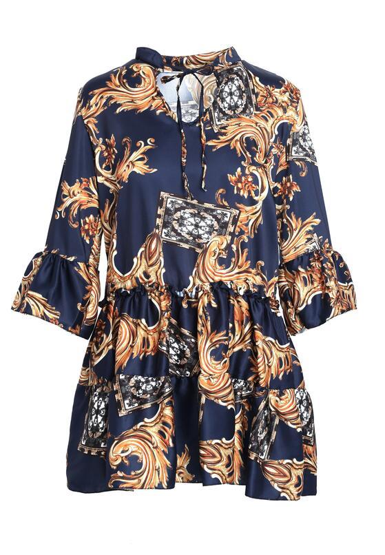 Granatowa Sukienka Cachaca