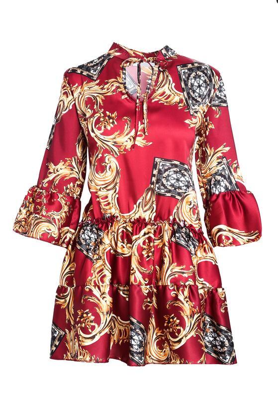 Bordowa Sukienka Cachaca