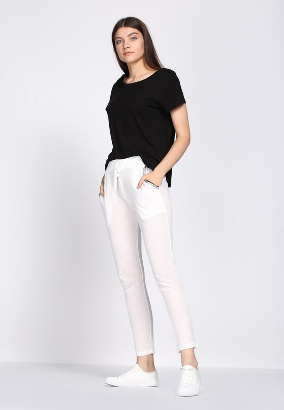 Białe Spodnie Dresowe Tranquility
