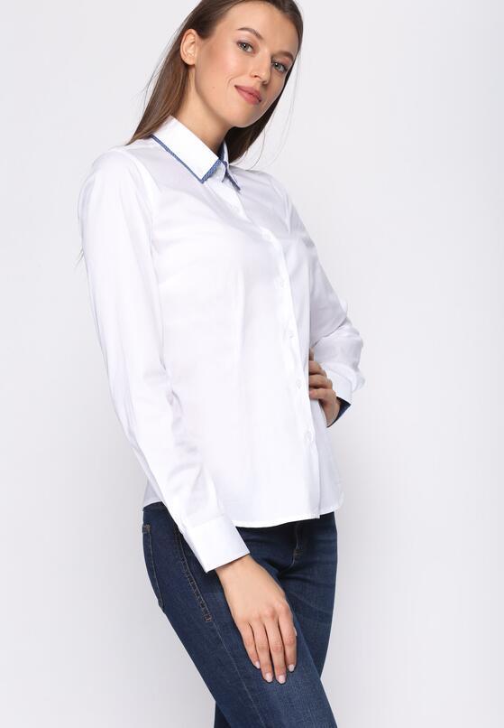 Biało-Niebieska Koszula Wistful