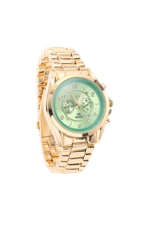 Złoto-Miętowy Zegarek Trinket