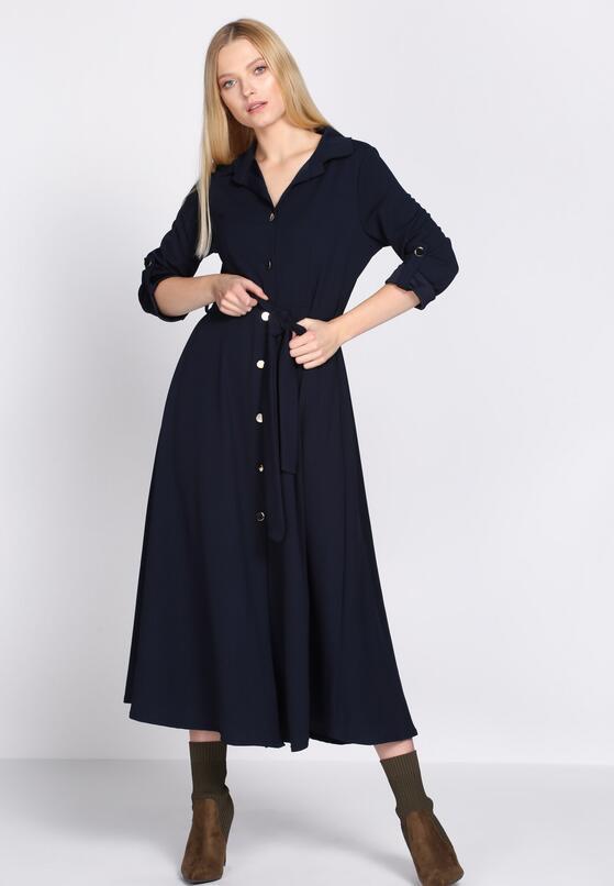 Granatowa Sukienka Tract