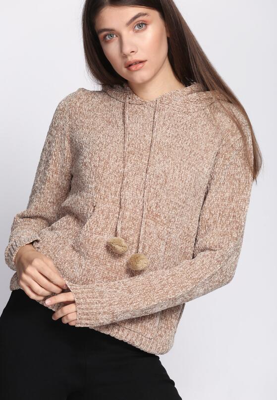 Beżowy Sweter Erratic