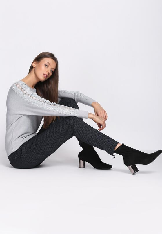 Granatowe Spodnie Approbate