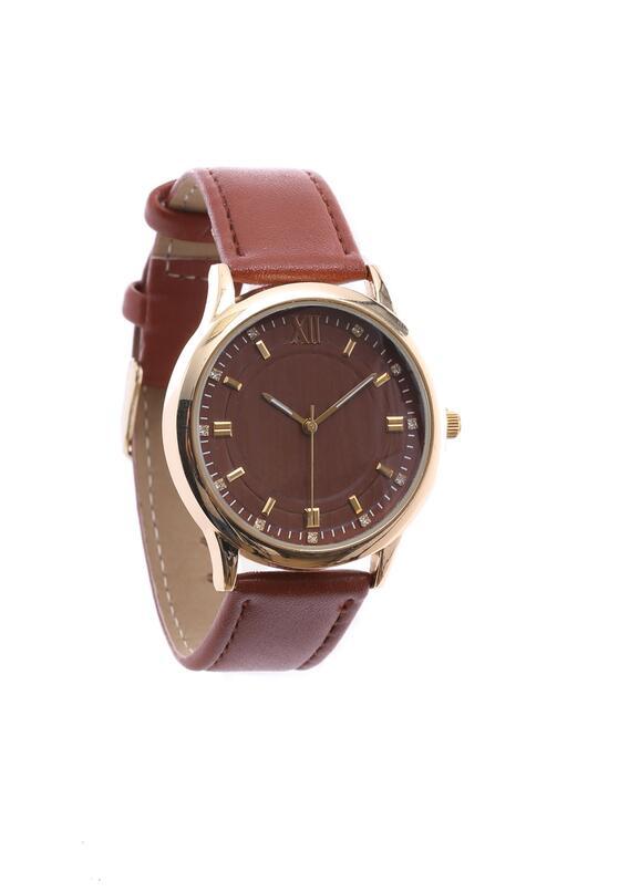 Brązowy Zegarek Conventional