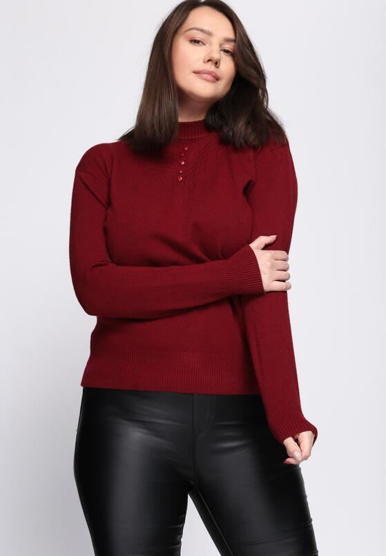 Bordowy Sweter Shortage