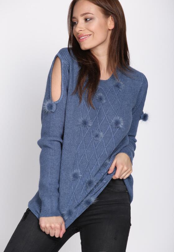 Niebieski Sweter I Hope Not