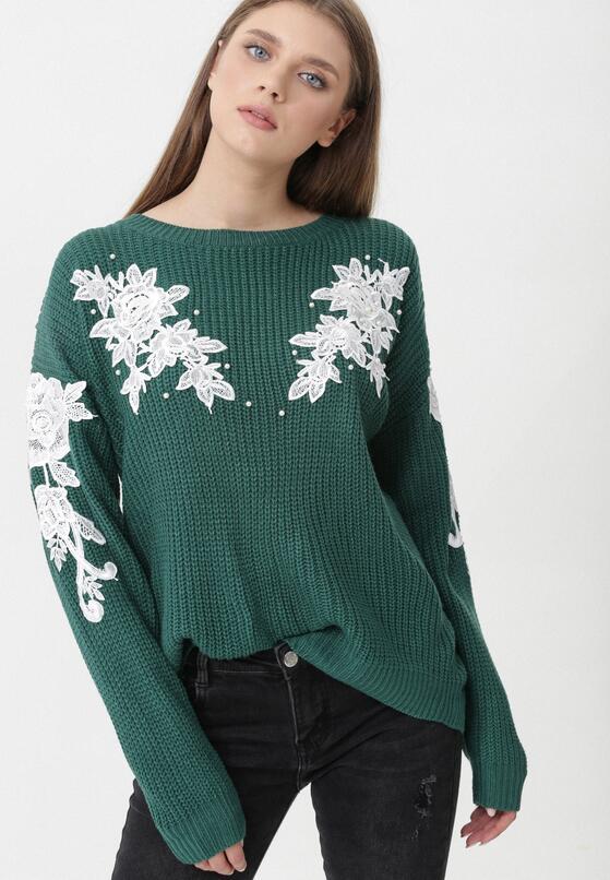 Zielony Sweter Gracefulness