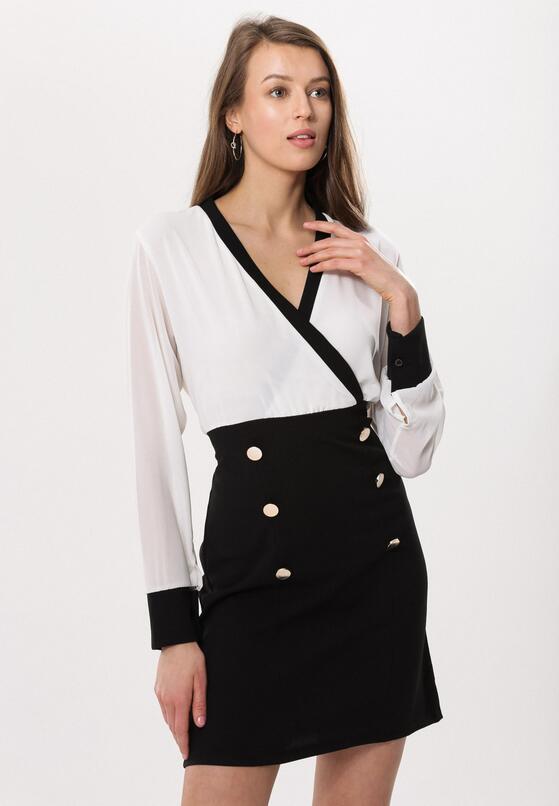 Biało-Czarna Sukienka Preeminent
