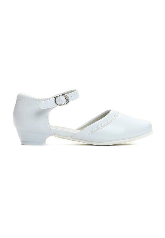 Białe Półbuty Shimmering White