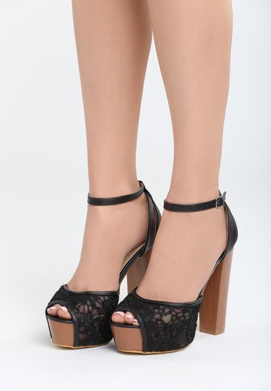 Czarne Sandały Cranesbill