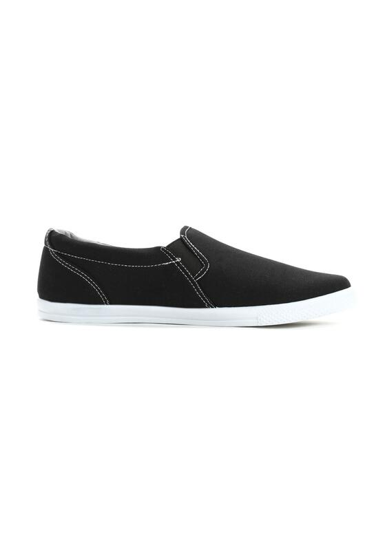 Czarne Slip On Underline