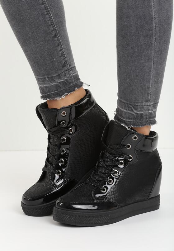 Czarne Sneakersy Adera