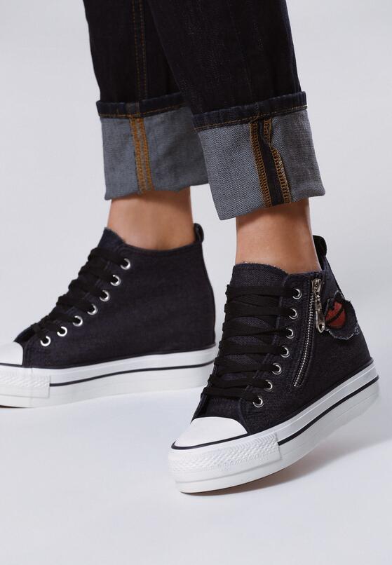 Granatowe Sneakersy Tesera