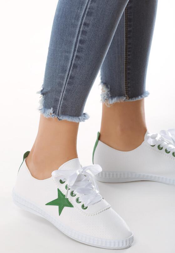 Biało-Zielone Trampki Aoki