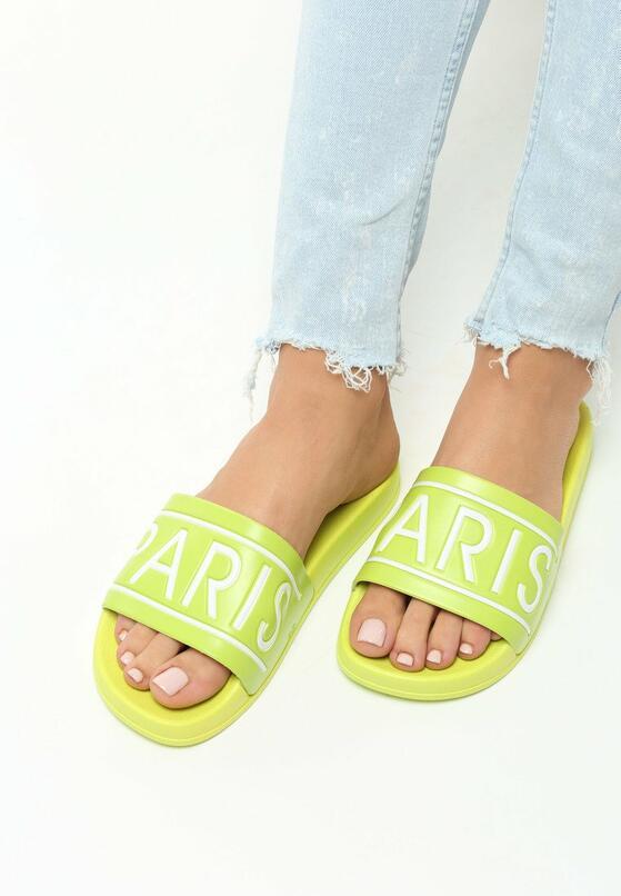 Limonkowe Klapki Parisian