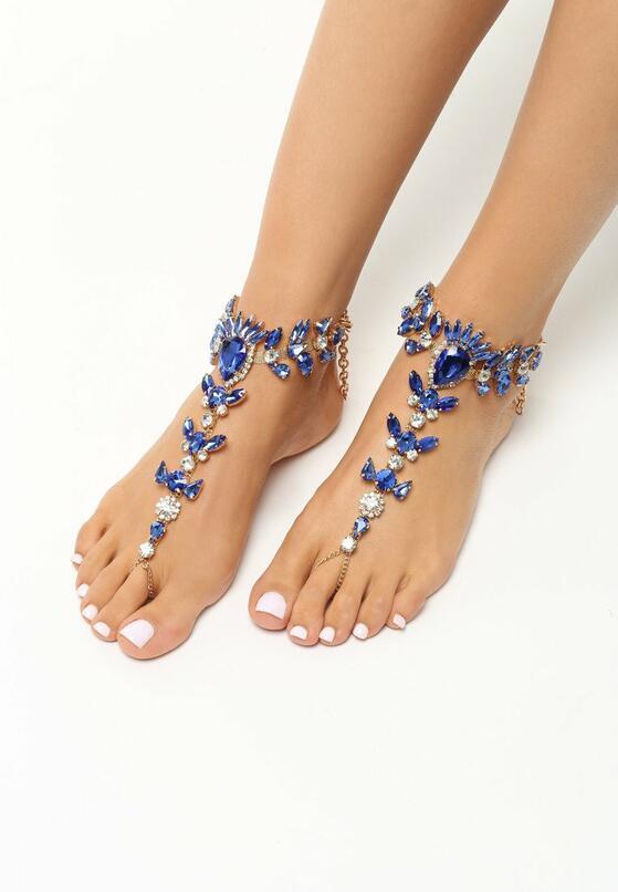 Granatowa Biżuteria na Stopy Diamonds
