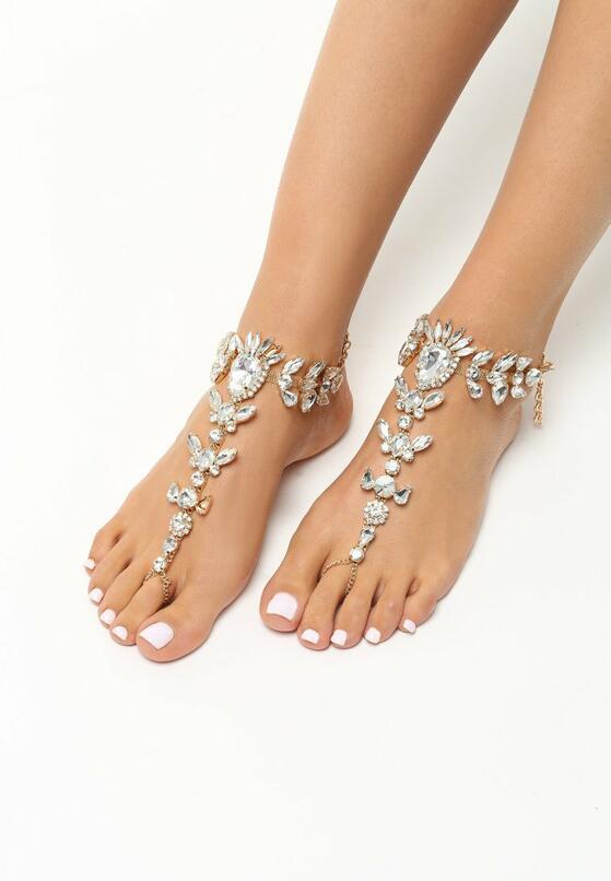 Srebrna Biżuteria na Stopy Diamonds