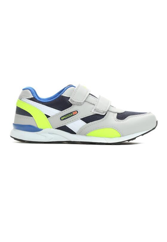 Szaro-Zielone Buty Sportowe Velcro Time