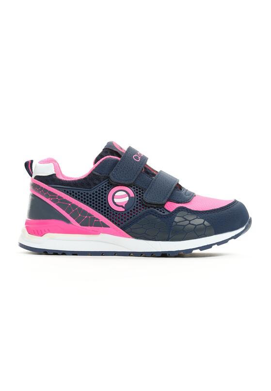 Granatowo-Różowe Buty Sportowe Plumy