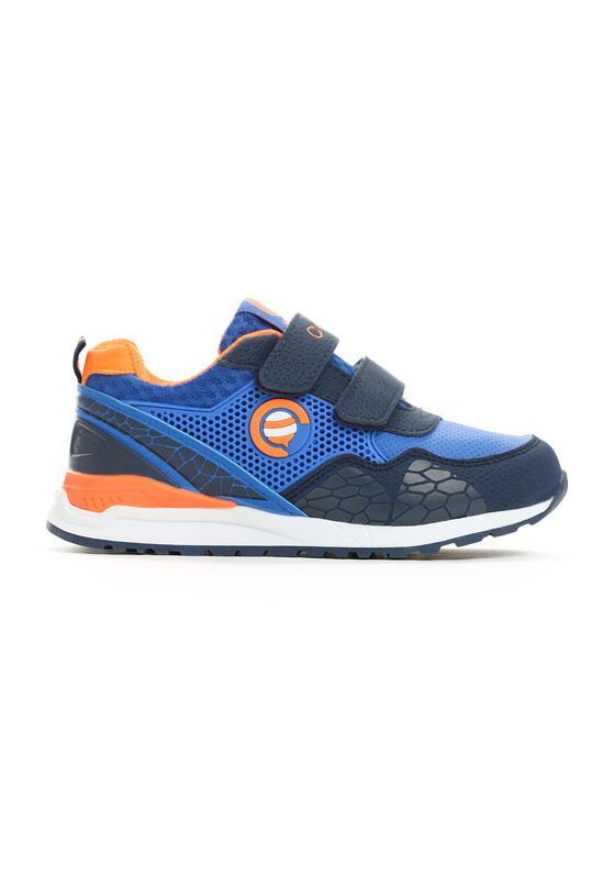Niebiesko-Pomarańczowe Buty Sportowe Plumy