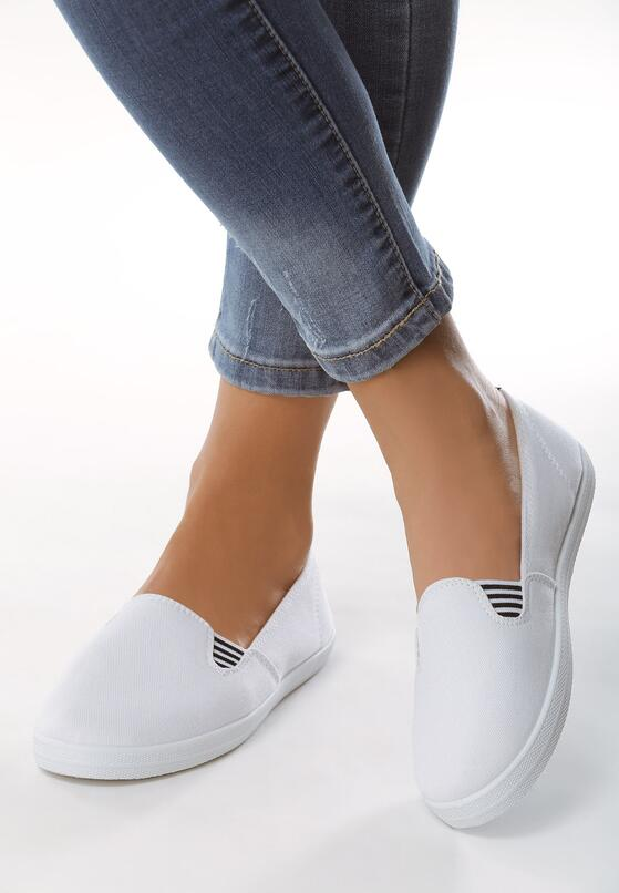 Białe Slip On Chill and Jump