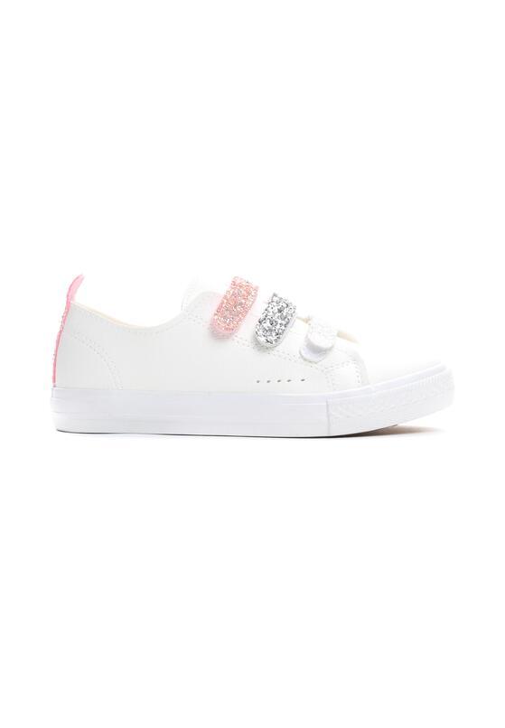 Białe Buty Sportowe Aglitter