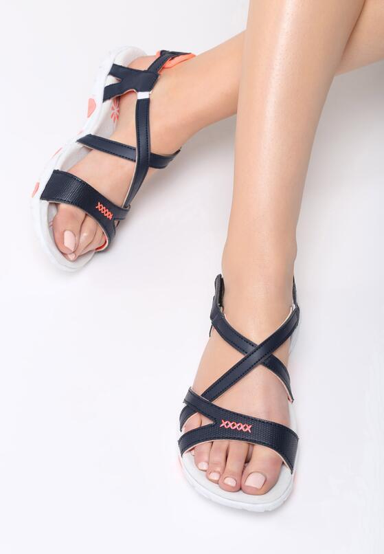 Granatowe Sandały Treat Me Nice