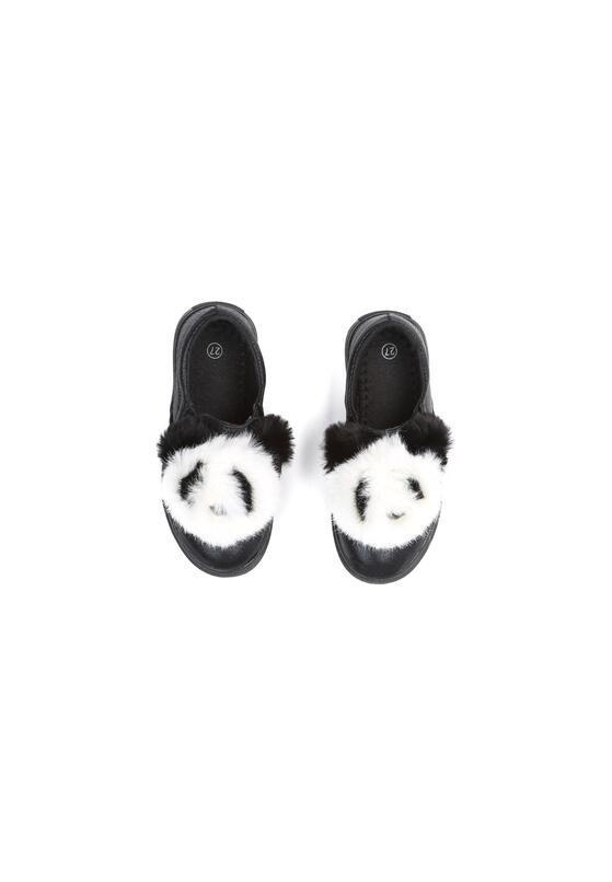 Czarne Slip On Panda