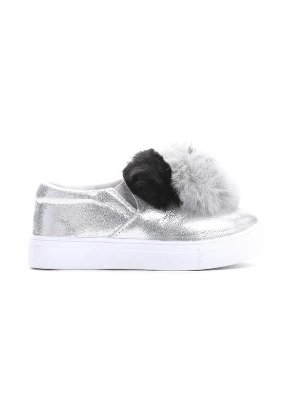 Srebrne Slip On Panda World