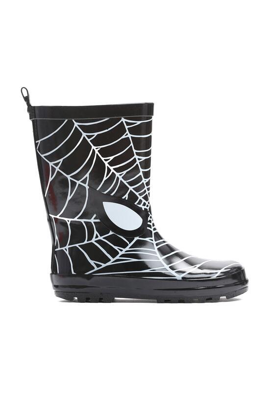 Czarne Kalosze Spider Web