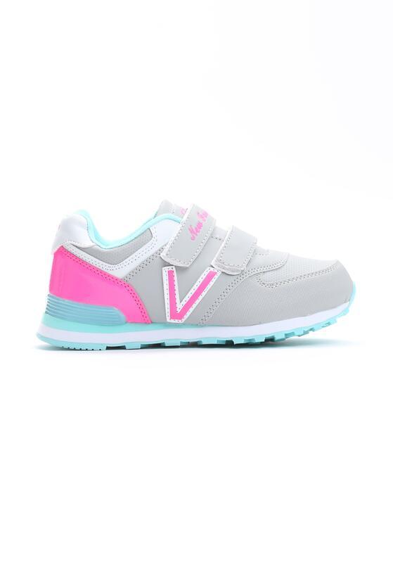 Szaro-Różowe Buty Sportowe Pink Air