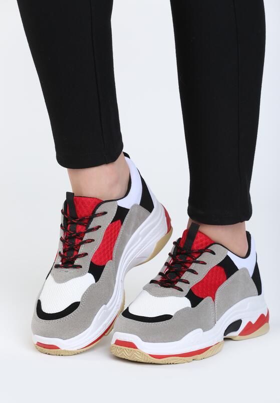 Biało-Czerwone Buty Sportowe Discord