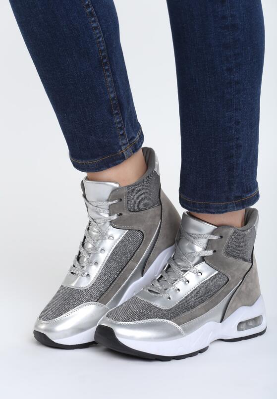 Srebrne Sneakersy All Lazy