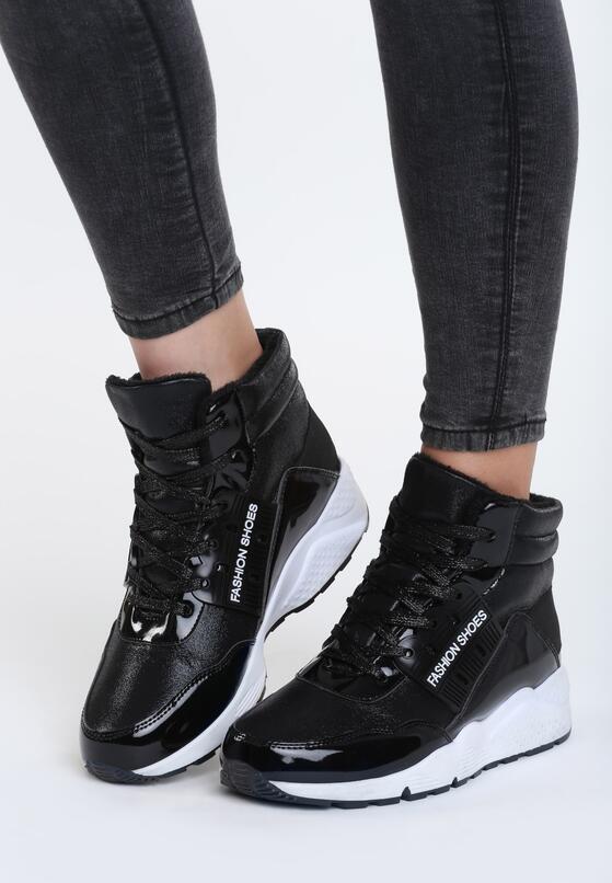 Czarne Sneakersy Diamond Ring