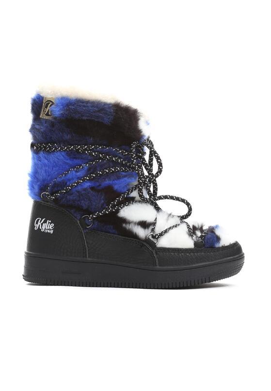Czarno-Niebieskie Śniegowce Alecia