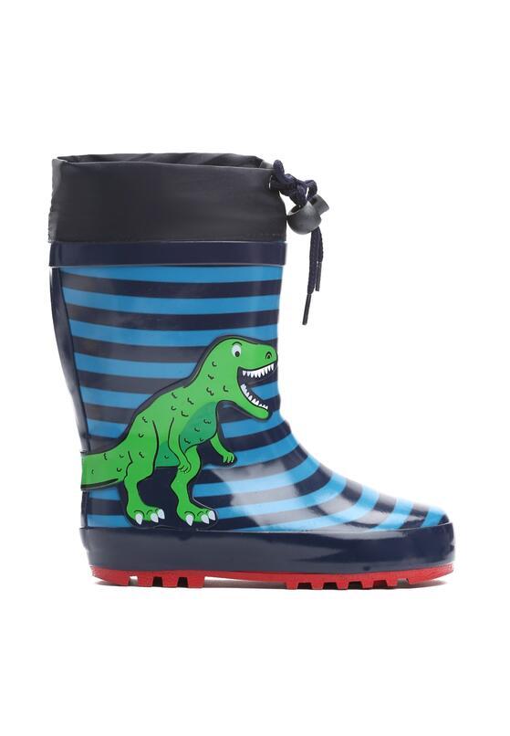 Niebieskie Kalosze Dinosaur