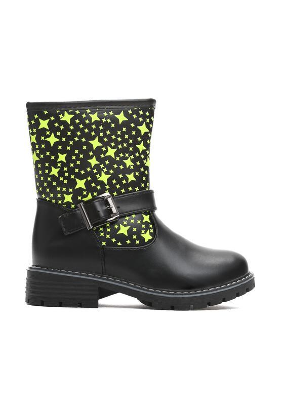 Czarne Botki Winter Stars