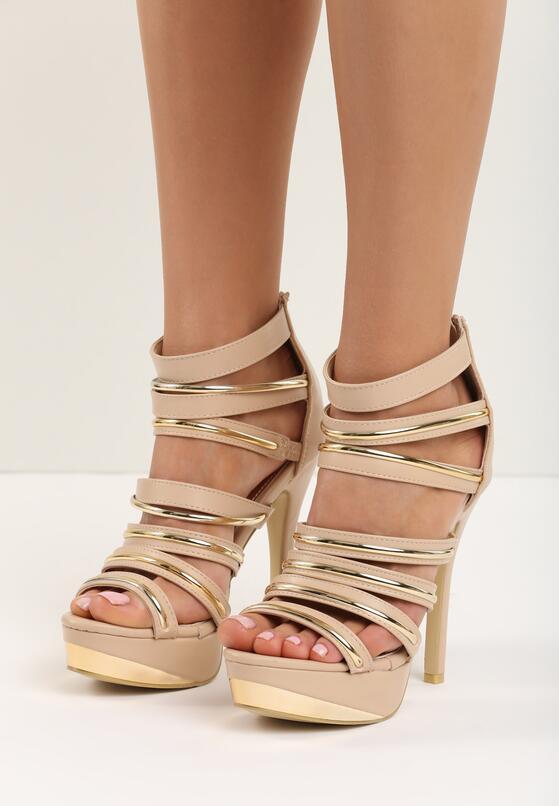 Beżowe Sandały Tie Me Up