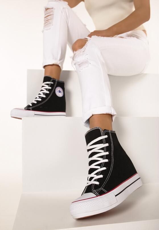 Czarne Sneakersy Bjorn