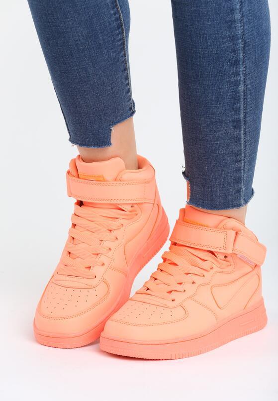 Pomarańczowe Buty Sportowe Laura