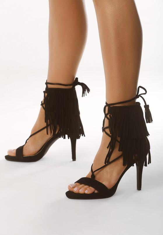 Czarne Sandały Nair