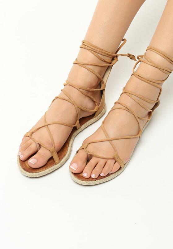 Ciemno-Beżowe Sandały Castiel