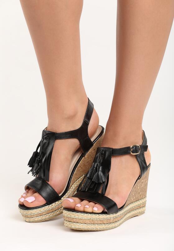 Czarne Sandały Select