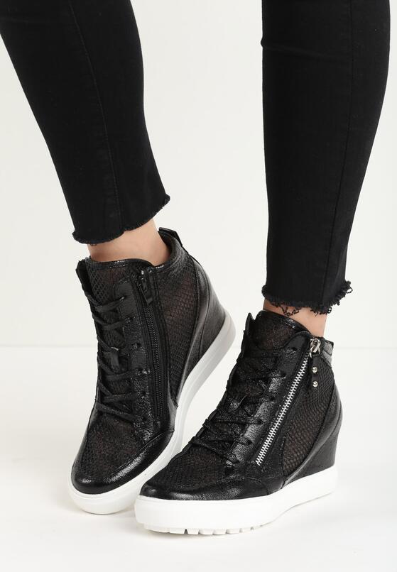 Czarne Sneakersy Ellif